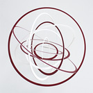 平野功喜さんのアート作品を展示。「回転する美しさと楽しさ」が魅力です