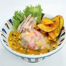 11/30(木)までの期間限定 「七志」の「かぼちゃのポタージュらー麺」