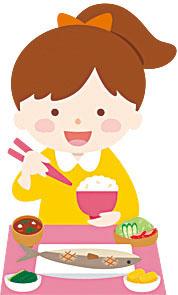 女児食事1