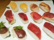 肉寿司食べ放題・日本酒飲み放題、アラカルト充実の「うるる 天満橋店」