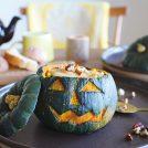 【食の楽しさ育むレシピ】秋鮭とお野菜たっぷり丸ごとかぼちゃグラタン