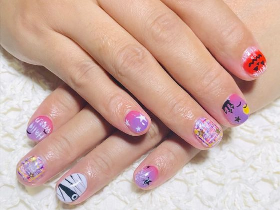 【霧島市国分】ハロウィンネイルでハッピーハロウィン♪子連れ・仕事帰りにもお勧め「nail salon color.」