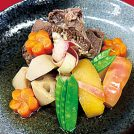 VOL.75 牛バラ肉と野菜、果実の煮合わせ