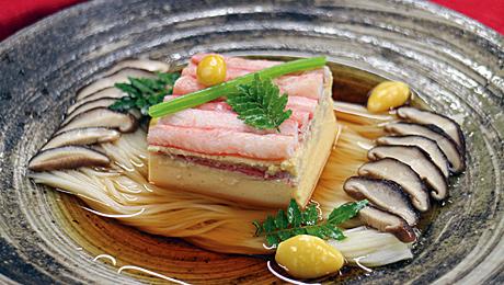 VOL.82 長月宴、蟹・銀杏入り八方露地がけ卵豆腐