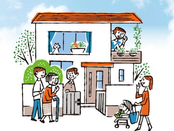 住まいの記憶に新しい1ページ 外装塗装で家をつなぐ