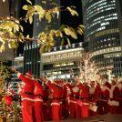 名駅にサンタ200人が現れた!大名古屋ビルヂング、クリスマスイルミネーション点灯で