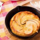 秋、旬のりんごを使って作る「キャラメルりんごパンケーキ」