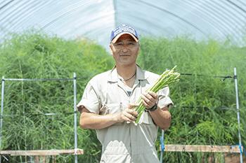 あいづ東部アスパラガス生産部会長・鈴木悟司さん