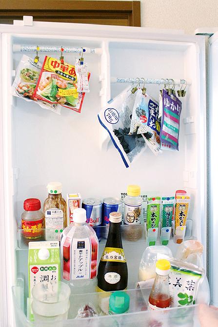 これは使える!冷蔵庫の収納に「突っ張り棒」!