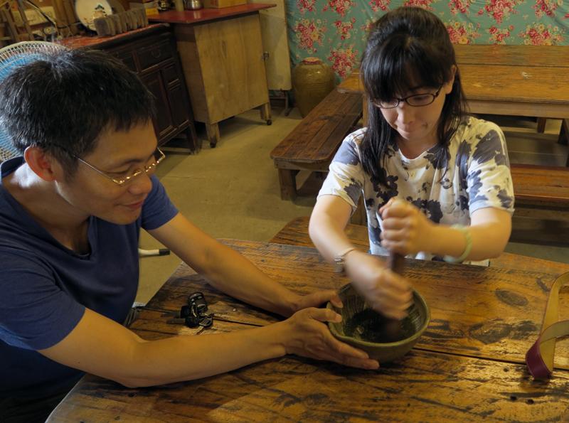 台湾・苗栗県南庄郷の擂茶DIY