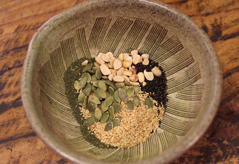 台湾・客家の擂茶の材料