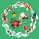 クリスマスにぴったりな手作品が並ぶクラフトマーケット