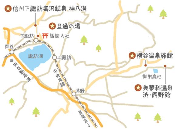 長野県の温泉マップ