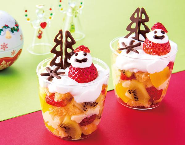冬、クリスマスにもぴったり。イチゴの帽子がかわいい「プチトライフル」
