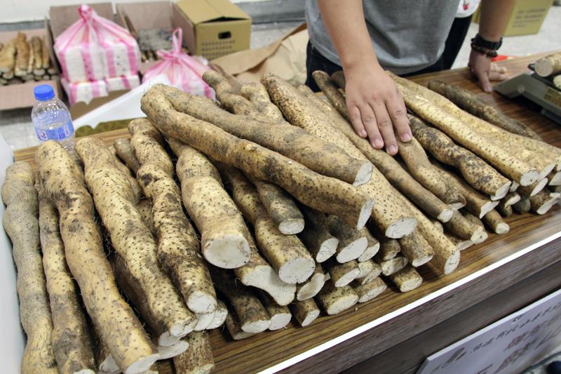 台湾のヤマイモ「山藥」