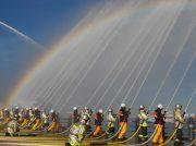 毎年恒例の「横浜消防出初式」へ 放水や救助などの体験も