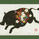 「新春まんぷく!お年賀展」年賀状をテーマにした作品を展示