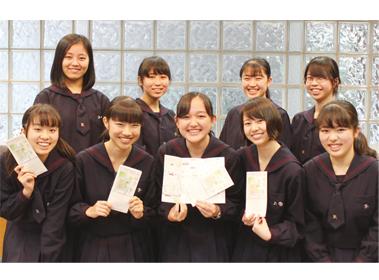 北鎌倉女子学園が手作りの北鎌倉観光マップで「おもてなし」