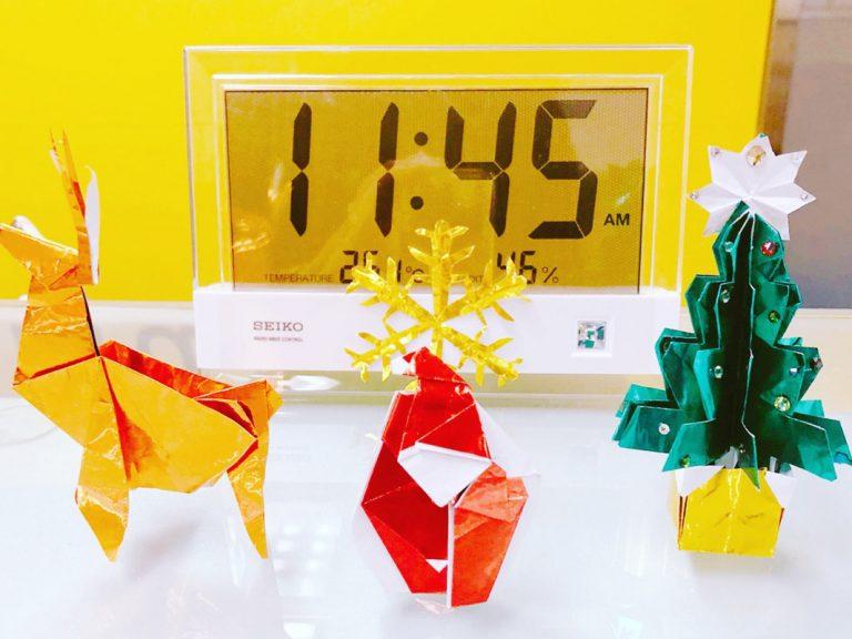 キャンドゥの100円折り紙で!カンタンかわいいクリスマスデコの作り方