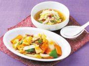寒天入り八宝菜 蒸し鶏のピリ辛スープ