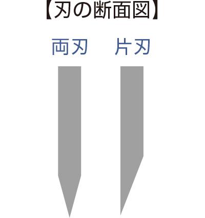 【刃の断面図】