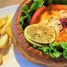名古屋城「金シャチ横丁」で「ポップオーバーサンド」を食べてきた。