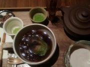 天神橋筋商店街「CAFE大阪茶会」で美味しい抹茶と焼き茶大福ぜんざい