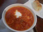 ロシアの国民食を気軽に♪ボルシチランチ600円!神戸・六甲「キャビ庵」