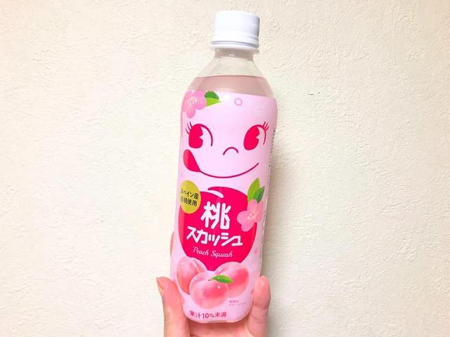 """""""ひなまつり限定""""ペコちゃんジュースが可愛い!白桃使用「桃スカッシュ」"""