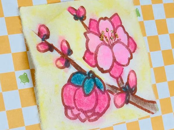 花言葉は天下無敵!?桃の花を描いて作る香り絵で雅な春を【SHUFU技】