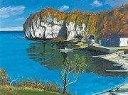 長年、身近な風景を油彩で描き続けた小川智さん。道展出品の大作11点などを多数展示します