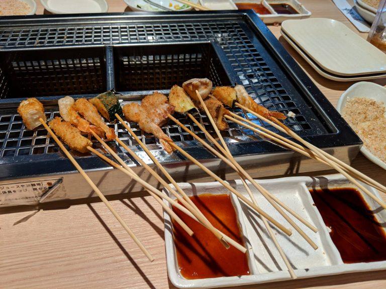 串揚げ食べ放題「楽膳」でアラフォーが80分食べまくってきた話