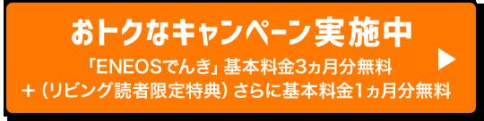 おトクなキャンペーン実施中 「ENEOSでんき」基本料金3ヶ月分無料+リビング読者限定特典さらに1ヶ月無料