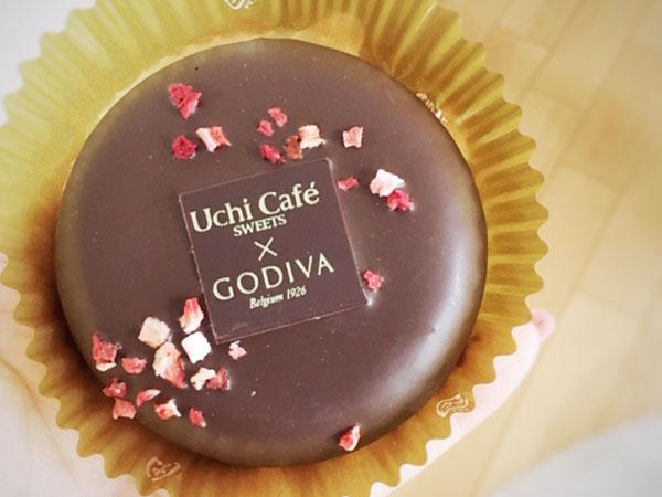 【ローソン】数量限定!Uchi Café SWEETS×GODIVA『ベイクドショコラストロベリー』
