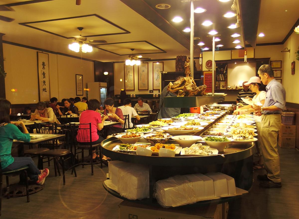 台北の素食自助餐食堂