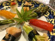 埼玉の至宝を食べる!さいたま市北区の割烹「山水」の野菜すし