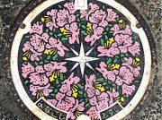 【マンホールさんぽ】春らしいピンクの色合い〈鳥取県米子市〉