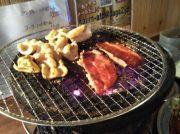 札幌で炭火でホルモン、ビールも飲んじゃって1000円!?