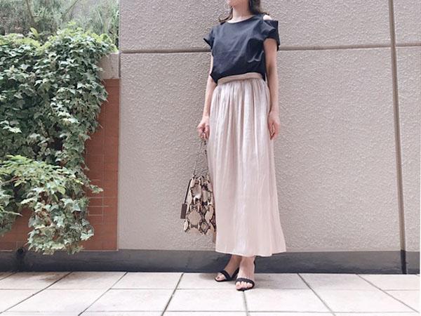 【GU】高見えフレアスカート!