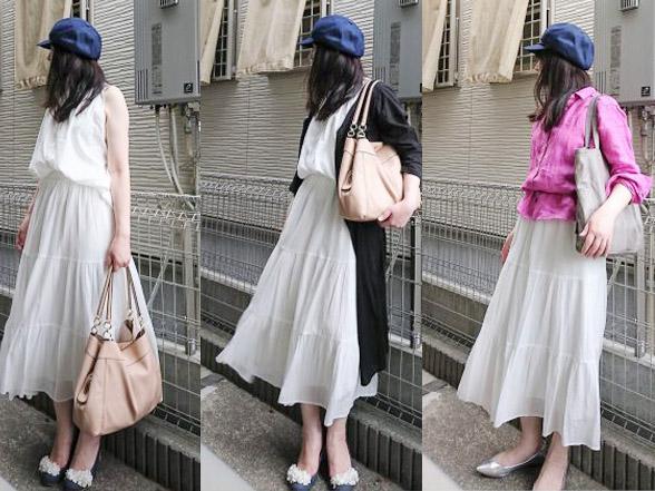 【ユニクロ】「ティアードロングスカート」がかわいい♡