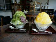 路地裏のカフェでふわふわかき氷🍧