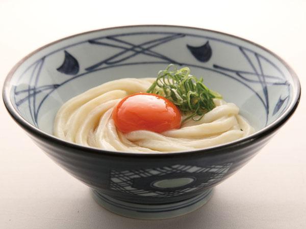 釜玉うどん(並350円)