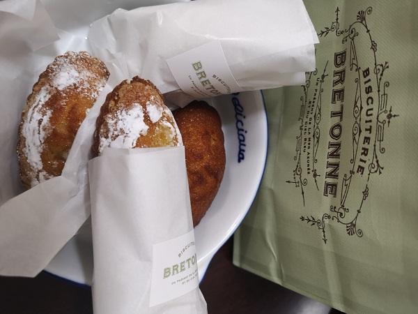 フランス・ブルターニュ焼き菓子専門店ブルトンヌ のフィナンシェ