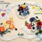 「第21回 戸塚刺しゅう展」 花がテーマの作品に心癒やされて