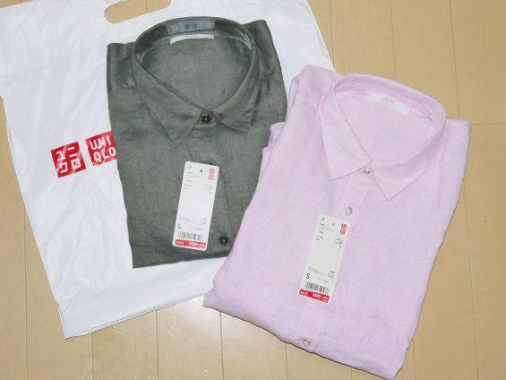 【ユニクロ】500円に値下げ中!プレミアムリネンシャツ
