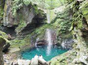 【矢板】インスタで話題♪コバルトブルーの滝つぼ「おしらじの滝」