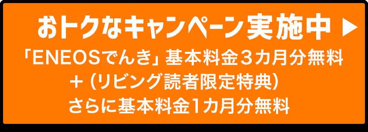 おトクなキャンペーン実施中 「ENEOSでんき」基本料金3ヶ月分無料+リビング読者限定特典さらに1ヶ月分無料