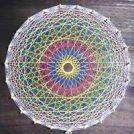 糸が織りなすアート「糸かけ曼荼羅」