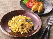玄米とカボチャのエスニックチャーハン タイ風ローストチキン
