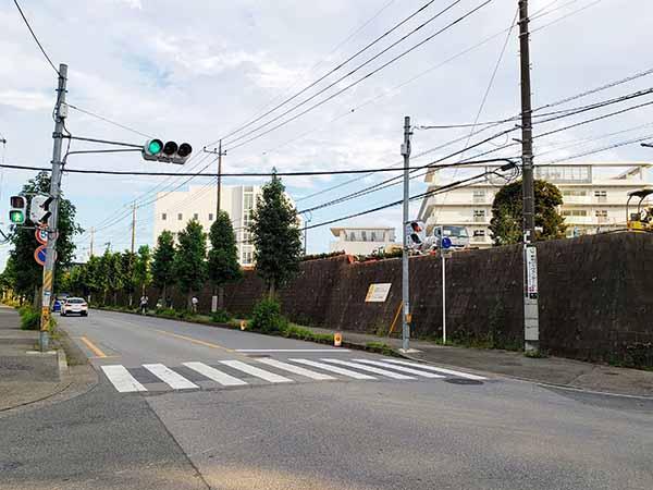 名戸ヶ谷病院‗工事中交差点